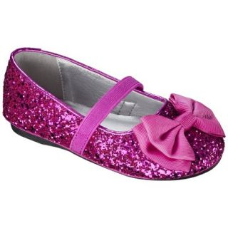 Toddler Girls Jayna Glitter Ballet Flat   Bright Pink 7