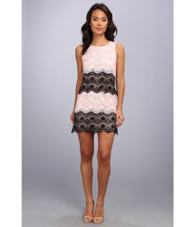 Jessica Simpson Scallop Lace Tier Dress Womens Dress (Pink)