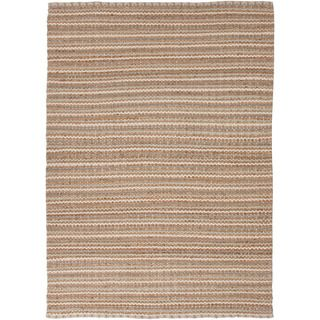 Handmade Naturals Solid Pattern Brown Rug (8 X 10)