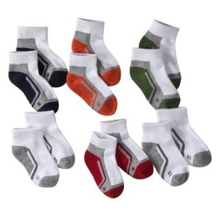 Boys Cherokee Multicolor 6 pair Ankle Socks 5.5 8.5
