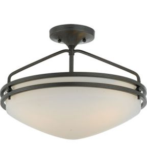 Ozark 3 Light Semi Flush Mounts in Iron Gate OZ1716IN