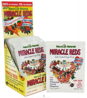 MacroLife Naturals   Miracle Reds Antioxidant Super Food   12 Packet(s) formerly Miracle Greens