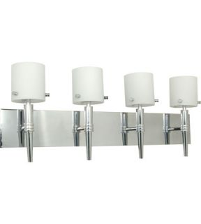 Jet 4 Light Bathroom Vanity Lights in Polished Chrome 60/1074