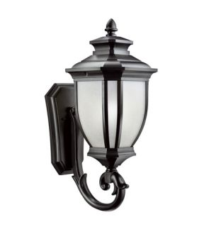 Salisbury 1 Light Outdoor Wall Lights in Black (Painted) 9042BK