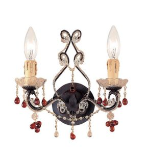 Paris Flea Market 2 Light Wall Sconces in Dark Rust 4522 DR