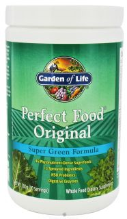 Garden of Life   Perfect Food Original Super Green Formula Powder   10.58 oz.