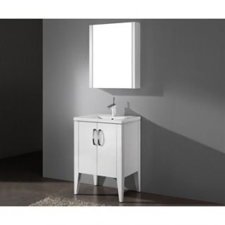 Madeli Caserta 24 Bathroom Vanity with Integrated Basin   Glossy White