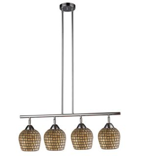 Celina 4 Light Island Lights in Polished Chrome 10153/4PC GLD