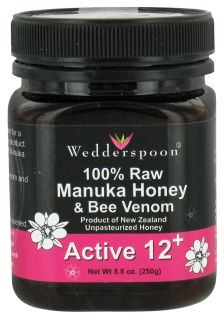 Wedderspoon Organic   100% Raw Organic Manuka Honey & Bee Venom Active 12+   8.8 oz.