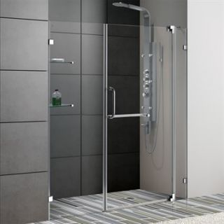 VIGO 60 inch Frameless Shower Door 3/8 Clear Glass