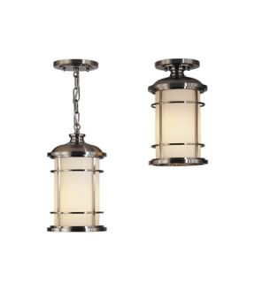 Lighthouse 1 Light Outdoor Ceiling Lights in Brushed Steel OL2209BS