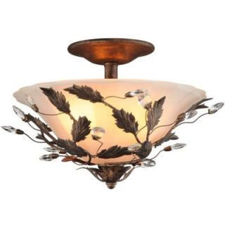 Hampton Bay Edendale 2 Light Ceiling Oil Rubbed Bronze Semi Flush Mount 18124 000