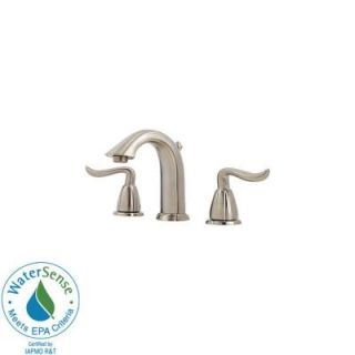 Pfister Santiago 8 in. Widespread 2 Handle High Arc Bathroom Faucet in Brushed Nickel F 049 ST0K