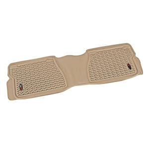 Rugged Ridge Floor Liner Rear 1 Piece Tan 2007 2011 Toyota Tundra Crew/Double Cab 83954.20