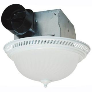 Air King Decorative White 70 CFM Ceiling Exhaust Fan with Light DRLC703