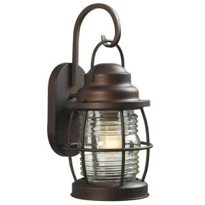 Hampton Bay Harbor 1 Light Medium Outdoor Copper Wall Lantern HDP11969