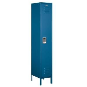 Salsbury Industries 51000 Series 15 in. W x 78 in. H x 18 in. D Single Tier Extra Wide Metal Locker Assembled in Blue 51168BL A