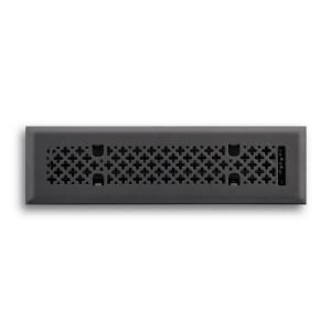 T.A. Industries 02 in. x 10 in. Retro Couture Floor Diffuser Finished in Matte Black H165 RMB 02X10