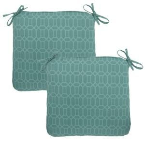 Hampton Bay Rhodes Trellis Outdoor Chair Cushion (2 Pack) 7348 02220000