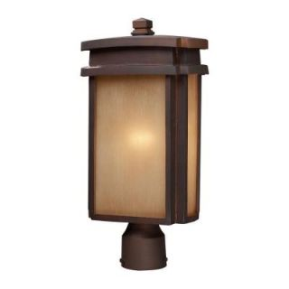Titan Lighting 1 Light Outdoor Clay Bronze Post Light TN 5235