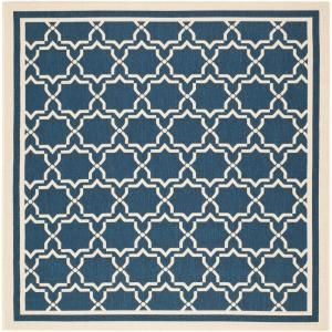 Safavieh Courtyard Navy/Beige 6.6 ft. x 6.6 ft. Square Area Rug CY6916 268 7SQ