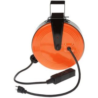 HDX 30 ft. 16/3 Heavy Duty Retractable Reel with 3 Outlets HD 800