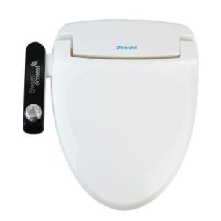 Brondell Swash Ecoseat 100 Non electric Bidet Seat for Elongated Toilet S100 EW