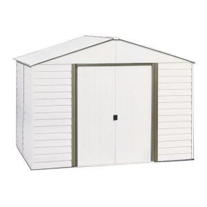 Arrow 10 ft. x 8 ft. Steel Storage Shed with Skylight Panels DISCONTINUED WDA108