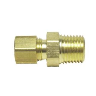 Watts 3/8 in. x 1/2 in. Brass Compression x MPT Unions (5 Pack) LF A124CONT