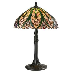 Dale Tiffany Cactus Bloom 21.5 in. Tiffany Antique Bronze Table Lamp STT13017