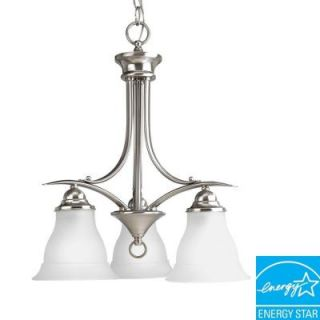 Progress Lighting Trinity Collection 3 Light Brushed Nickel Chandelier P4324 09EBWB