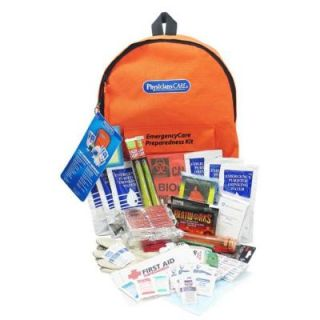 PhysiciansCare 63 Piece EmergencyCare XL Emergency Preparedness Backpack First Aid Kit   4 Person 90001