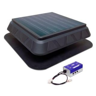 Master Flow 20 Watt 750 CFM Low Profile Solar Powered Roof Mount Exhaust Fan PRSOLAR2