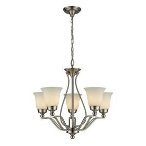 Titan Lighting 5 Light Ceiling Brushed Nickel Chandelier TN 7692