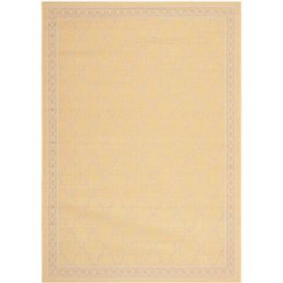 Safavieh Courtyard Yellow/Beige 6.6 ft. x 9.5 ft. Area Rug CY5142 316 6