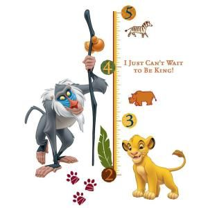 RoomMates The Lion King Rafiki Peel and Stick Giant Growth Chart Wall Decal RMK1924SLM