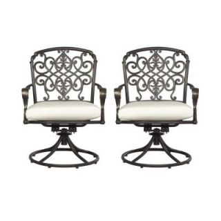 Hampton Bay Edington Swivel Patio Dining Chair with Bare Cushion (2 Pack) 131 012 SR2 NF
