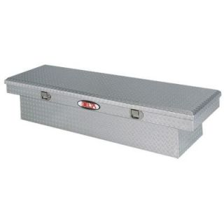 Delta 70 in. Aluminum Single Lid Aluminum Full Size Crossover Tool Box in Bright 1 300000