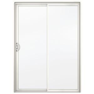JELD WEN A 200 Series 72 in. x 80 in. White Reversible Aluminum Sliding Patio Door with Clear Tempered Glass 8b6110