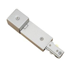 Hampton Bay Brushed Steel Conduit Power Feed for Linear Track Lighting EC705BA