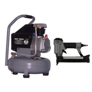 Iron Horse 4 Gal. Pancake Compressor Combo Kit with 18 Gauge 2 in 1 Brad Nailer and Stapler IHP104L NK