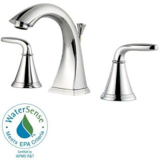 Pfister Pasadena 8 in. Widespread 2 Handle High Arc Bathroom Faucet in Polished Chrome F 049 PDCC