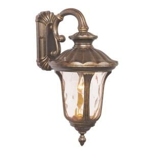 Livex Lighting Providence Wall Mount 1 Light Outdoor Moroccan Gold Incandescent Lantern CLI MEN7653 50