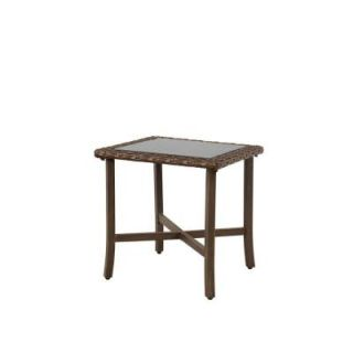Hampton Bay Bloomfield Woven Patio End Table 14H 039 20ET