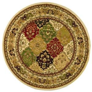 Safavieh Lyndhurst Assorted/Ivory 5 ft. 3 in. x 5 ft. 3 in. Round Area Rug LNH221A 5R