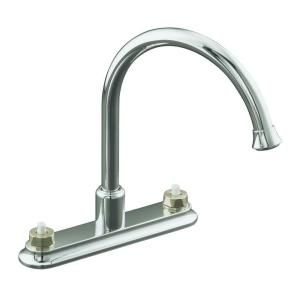 KOHLER Coralais 2 Handle Kitchen Faucet in Polished Chrome K 15888 K CP