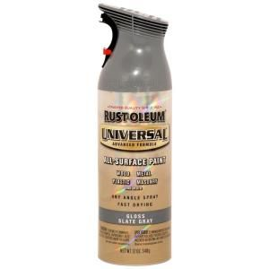 Rust Oleum Universal 12 oz. All Surface Gloss Slate Gray Spray Paint and Primer in One (6 Pack) 249339