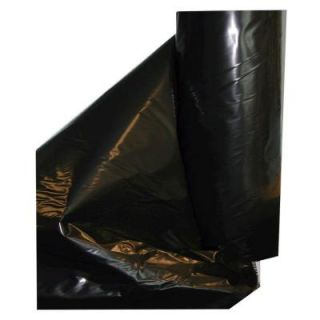 10 ft. x 100 ft. 4 mil Black Fire Retardant Poly Construction Film B4 10