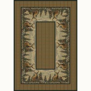 United Weavers Standing Proud 5 ft. 3 in. x 7 ft. 6 in. Contemporary Lodge Area Rug 132 41017 58