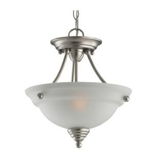 Sea Gull Lighting Albany 2 Light Indoor Brushed Nickel Semi Flush Convertible 77575 962